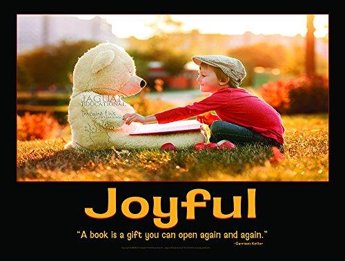 Joyful Laminated Elementary Education Poster To Promote Reading