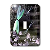 3dRose LLC lsp_47986_1 Dragonflies with glowing wings, Single Toggle Switch