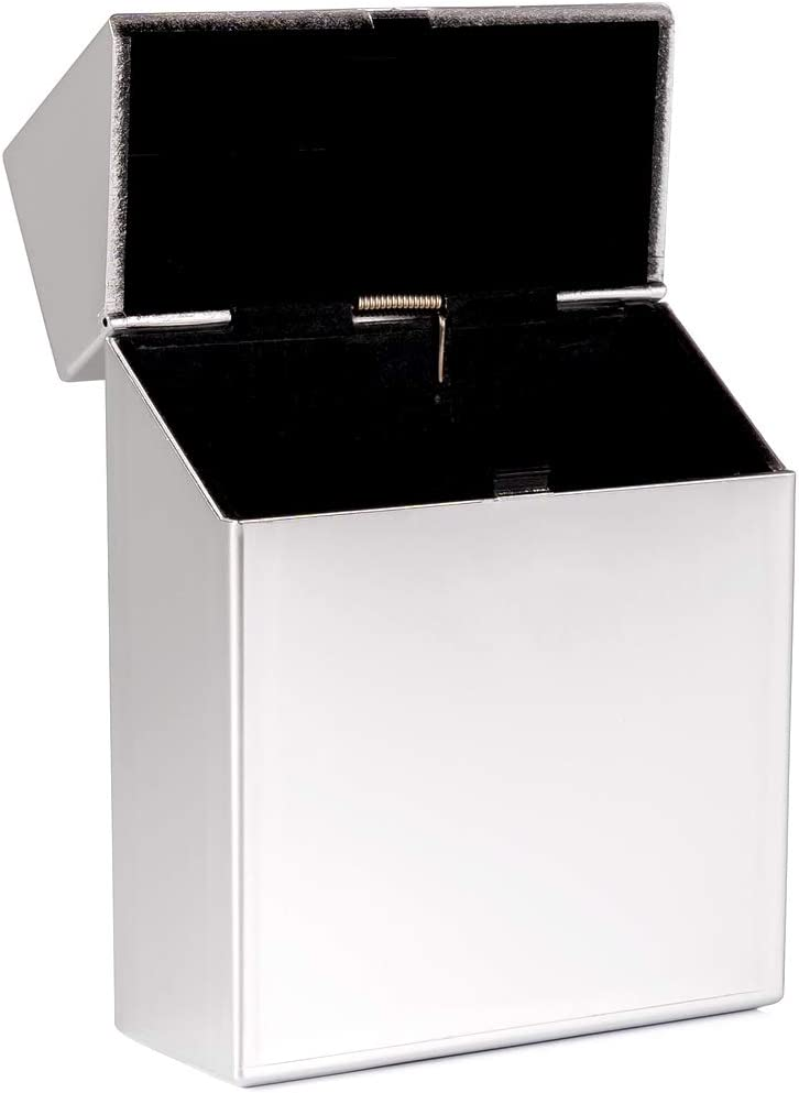Blau metallic Zigarettenbox XL metallic f/ür 25 Zigaretten Etui Kunststoff