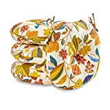 Cheap Greendale Home Fashions 18 in. Round Outdoor Bistro Chair Cushion (set of 4), Esprit Skymulti