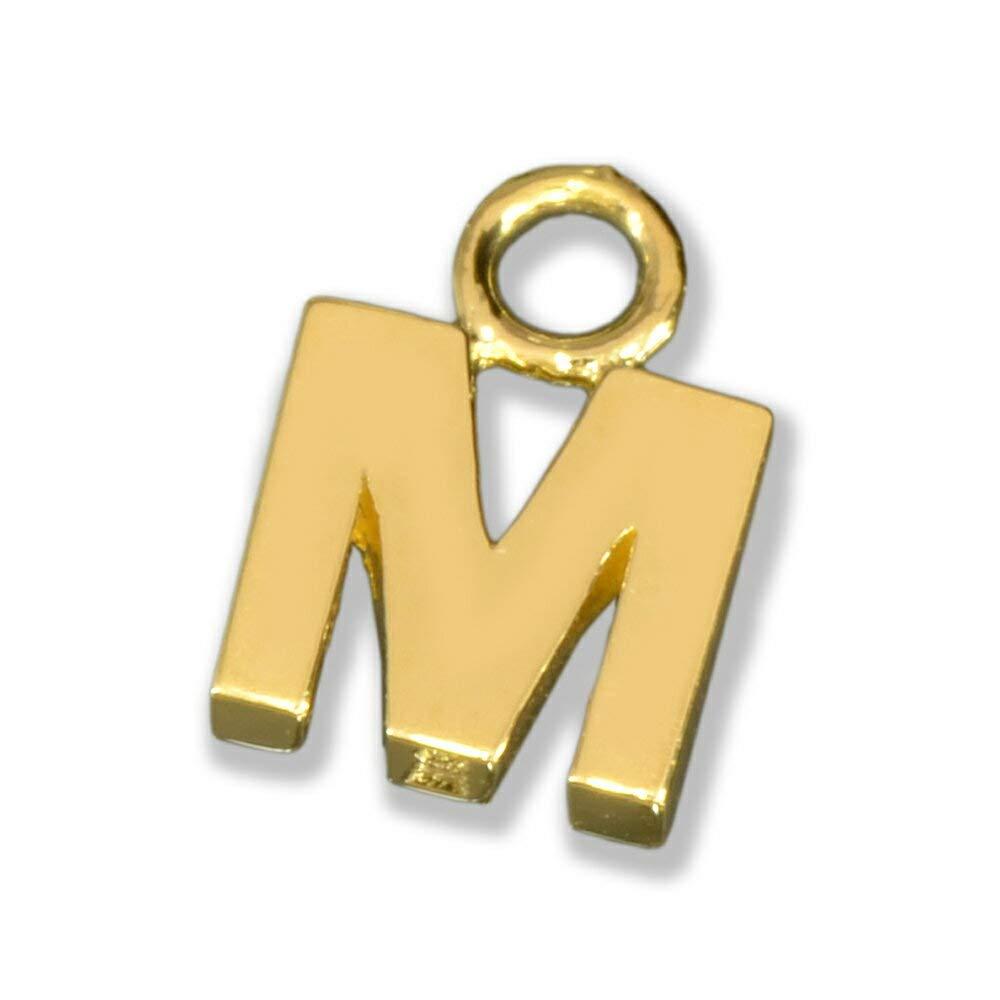 [ルビイ] イエローゴールド K18 Mイニシャル 貴金属パーツ 1個売り SSサイズ   B07CRTC8TM