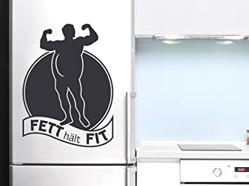 Kühlschrank Tattoo : Tattoo wandaufkleber wanddekoration für kühlschrank spruch fett