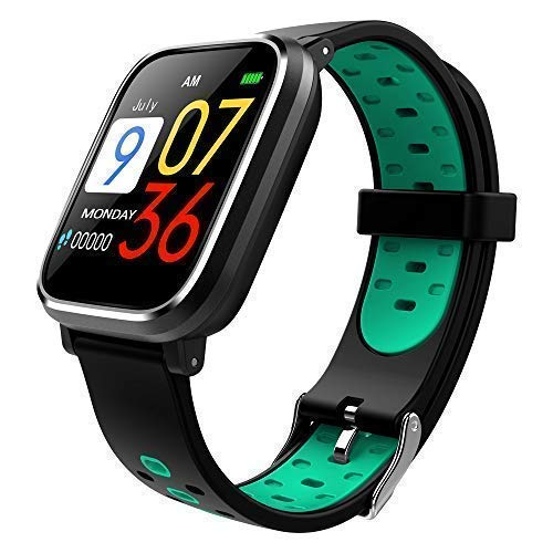 Bluetooth Smart Watch:All-Day Heart Rate and Activity Tracking, Sleep Monitoring, GPS, Ultra-Long Battery Life, Bluetooth, (Black-Blue) by FOKECCI (Image #1)