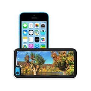 Autumn Forest Green Lake Scenery Apple iPhone 5C Snap Cover Premium Aluminium Design Back Plate Case Customized Made to Order Support Ready 5 inch (126mm) x 2 3/8 inch (61mm) x 3/8 inch (10mm) MSD iPhone_5C Professional Metal Case Touch Accessories Graphic Covers Designed Model Sleeve HD Template Wallpaper Photo Jacket Wifi 16gb 32gb 64gb Luxury Protector Wireless Cellphone Cell Phone