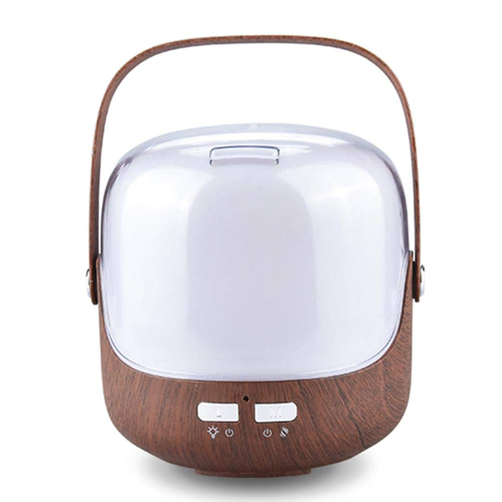 Shengruhua 250ML Wood Grain Humidifier Essential Oil Diffuser Desktop Aroma Ultrasonic Humidifier Atomizer Aromatherapy Cool Mist Humidifier Home Office Home Bedroom Living Room Baby Study Yoga SPA