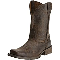 Ariat Men's Rambler Wide Square Toe Western Cowboy Boot, Wicker, 11 M US