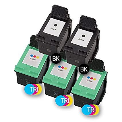 PACK 5 x CARTUCHOS DE TINTA H-350 XL BK/H-351 XL TRI MULTICOLOR ...