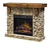 electric stone fireplace DIMPLEX GDS26L5-904ST Pine and Stone-Look Mantel Fieldstone Electric Fireplace, Stone, Stone