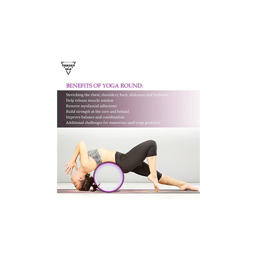 Forbidden Road Yoga Wheel Exercise Wheel Prop Release Tight Chest Shoulders Deepen Back Bend Stretching Improving Yoga Poses Flexibility Balance Core Strength
