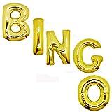 GEORLD 40 Inch Giant Gold Bingo Balloons Jumbo Helium Foil Party Balloon