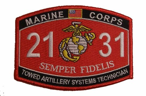 Marine Corps 2131 Towed Artillery Systems Technician MOS Patch - Veteran Owned Business