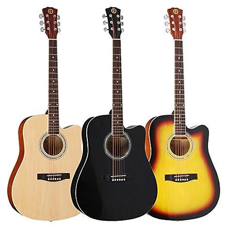 ERCZYO 41 pulgadas de madera, acústica, folk, guitarra clásica ...