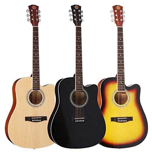 DUOLUO 41インチ木製アコースティックフォーククラシックギターフルサイズ21フレットバスウッドとギグバッグ   B07NPHXMZ1