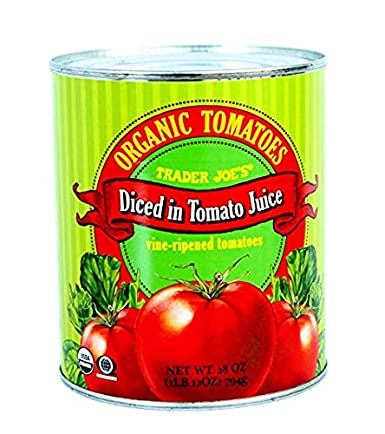 Amazon Com Trader Joe S Organic Tomatoes Diced In Tomato Juice 28 Oz Case Of 2 Grocery Gourmet Food