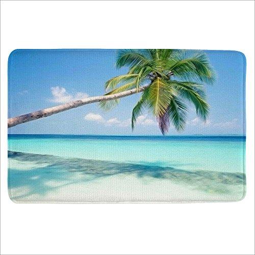 Alfalfa Bath Rug  Non Slip Mat  Bathmat  Doormat  Thick Synthetic Sponge And Super Soft Microfiber Flannel Fabric Absorbent  Beach Design Theme 16  W X 24  L  40 X 60 Cm  Coconut Palm Trees 1