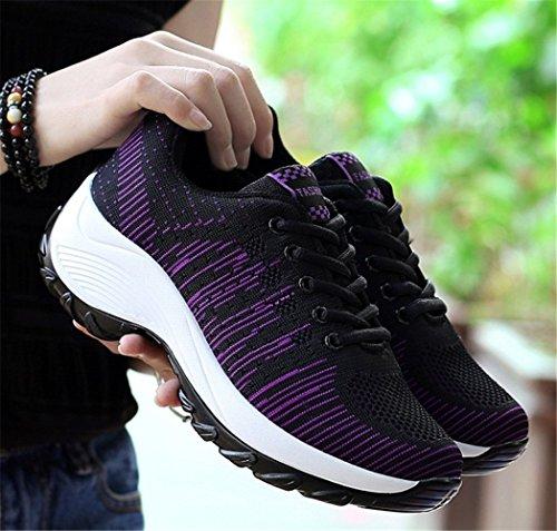 Mujer Negro Deportivos Calzados Para de Verano Primavera de Running Zapatillas y mogeek IPq1xCwgq