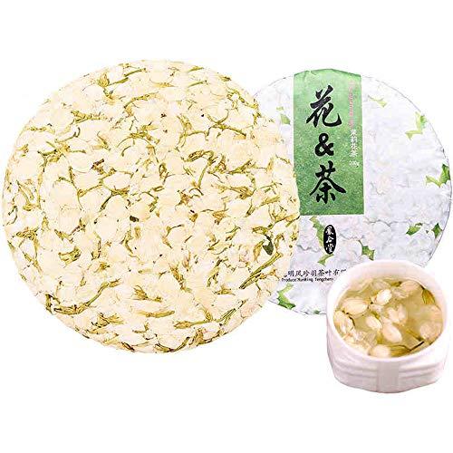 (OUZ123 Sulfur Free Dried Jasmine Flower Tea mut lei faa caa beng 茉莉花茶餅 200g/7oz)