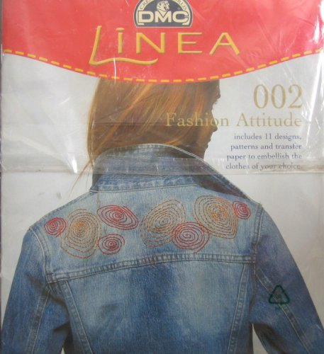 Linea Fashion Attitude 002 - 11 Designs, Patterns & Transfer Paper (Embroidery Dmc Transfer)