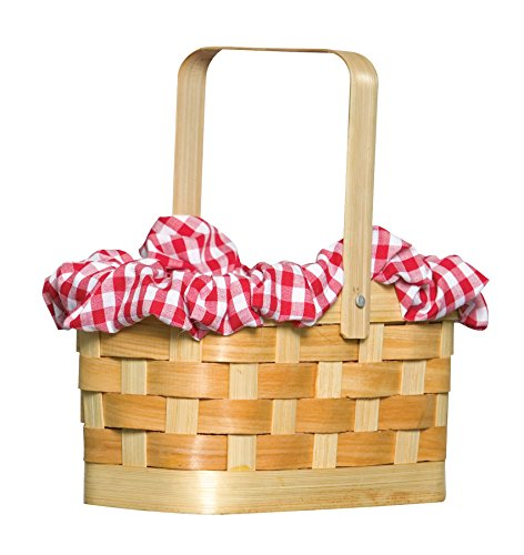 Rasta Imposta Gingham Basket, Red, One -