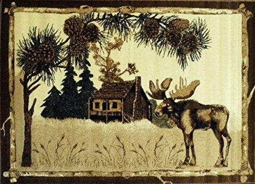 Cabin Area Rug # 380 Lodge (7 Ft. 7 In. X 10 Ft. 6 In.)