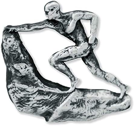 Rock Climber Pewter Lapel Pin Brooch Jewelry A241