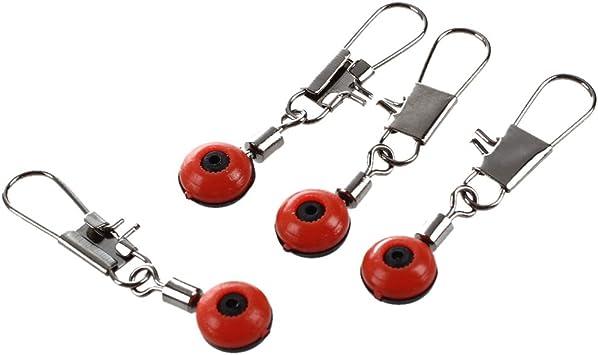 LQNB 100X Schnelle Perlen Laufwirbel Wirbel Sicherheitskarabiner Posen Neu