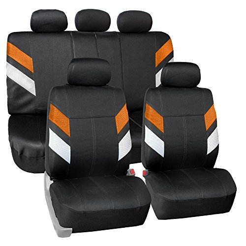 FH Group FB086115ORANGE Orange Neoprene Seat Cover (Semi-Universal Modern -