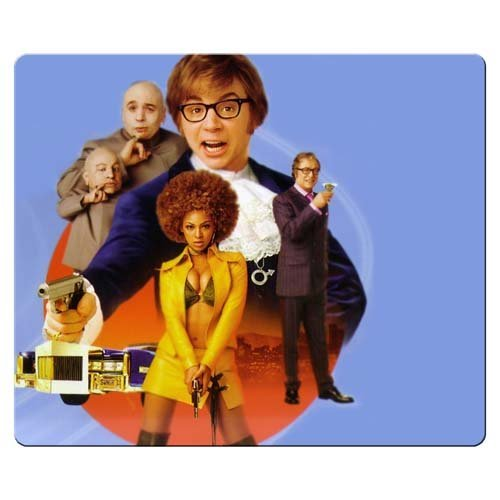 26x21cm 10x8inch game Mousepad rubber / cloth smooth surface smooth Austin Powers in Goldmember