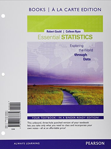 Essential Statistics, Books a la Carte Edition Plus NEWMyStatLab with Pearson eText -- Access Card Package