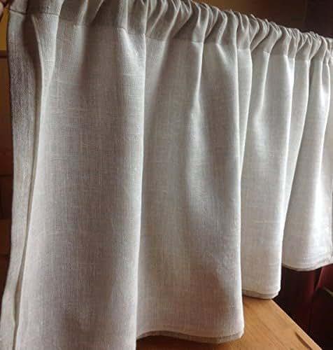 Linen Curtains Amazon Com: Amazon.com: Cafe Curtain, Linen Cafe Curtain, Flax Linen