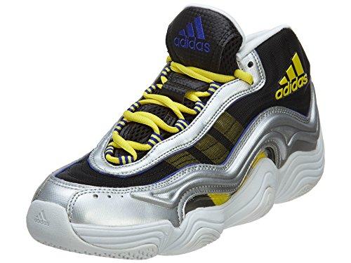Adidas loca de los zapatos 2 de baloncesto para hombre del estilo: Tamaño S83922-sil / metll / flas Silver Metallic/Light Yellow/Night Flash