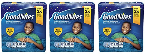 GoodNites Bedtime Bedwetting Underwear for Boys (Pack of 3) by GoodNites