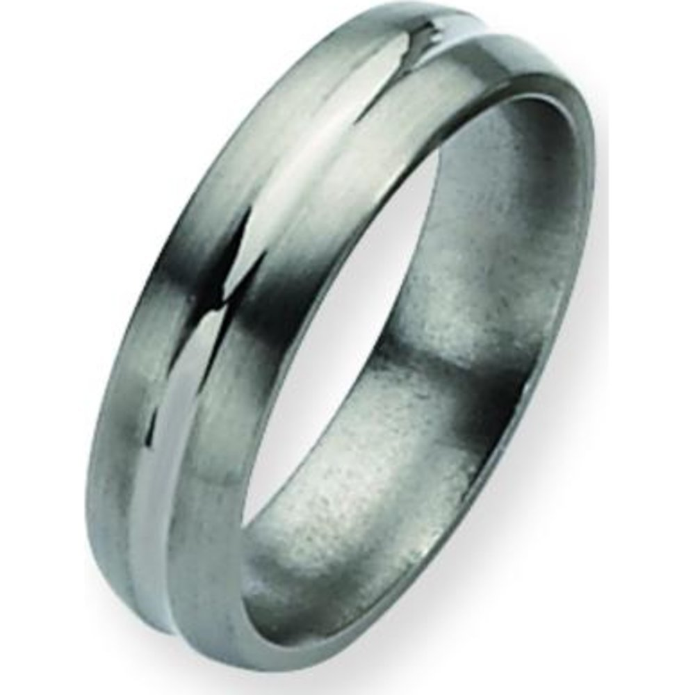Titanium 6mm Brushed Mens Wedding Ring Band Size 11