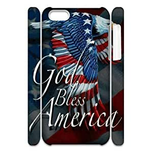 QWSPY Eagle American Flag Wings Phone 3D Case For Iphone 5C [Pattern-6]