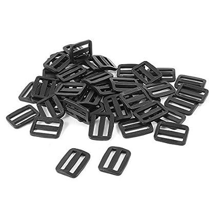 Amazon.com: eDealMax plástico Duro Strapping rectángulo Hebilla de las correas 50pcs Mochila Negro: Home & Kitchen