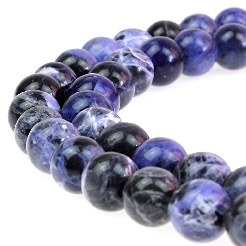 JARTC Best Sellers Natural Stone Beads Sodalite Round Loose Beads for Jewelry Making DIY Bracelet Necklace ()