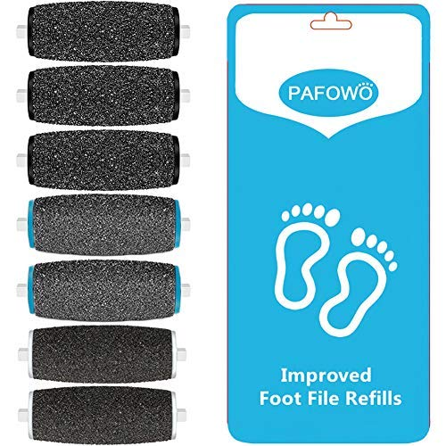 (7 Pack Include 3 Extra Coarse & 2 Regular Coarse & 2 Soft Touch Replacement Roller Refill Heads Compatible with Pedi Pefect Electronic Foot File)