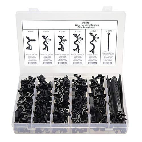 FidgetGear 132 Pcs Automotive Wire Harness Routing Clip Assortment 3/8