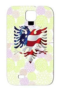 Shqiponja Albanian Eagle Symbols American Flag Albanian Eagle Shapes Silver TPU Case Cover For Sumsang Galaxy S4