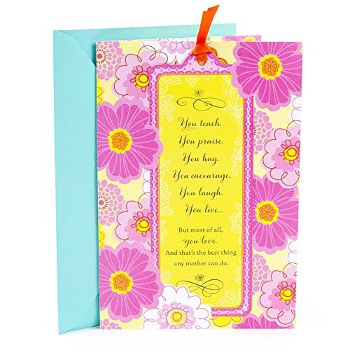 (Hallmark Mother's Day Card for Any Mom with Removable Bookmark)