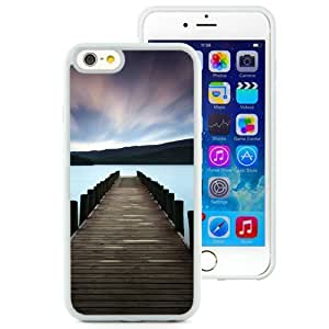 NEW Unique Custom Designed iPhone 6 4.7 Inch TPU Phone Case With Stunning Lake Dock Colorful Sky_White Phone Case