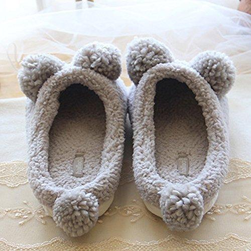 Candora - Zapatillas de estar por casa de Caucho para mujer gris gris