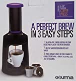 Cheap Gourmia GKCP135 Manual Coffee Brewer Single Serve K-Cup Manual Hand French Press Coffee Maker -Brew Coffee Anywhere -Purple