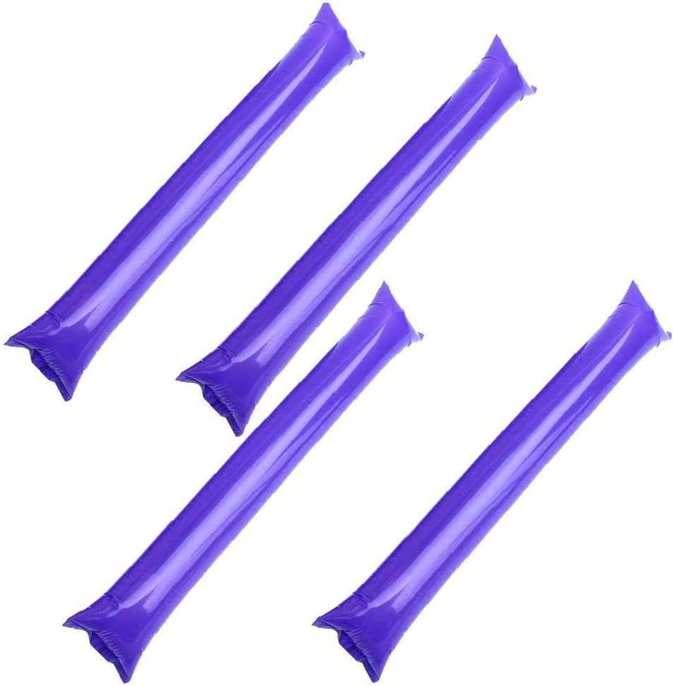 TYY-guang Sticks Sticks 50pcs Trueno Inflable Bam Bam Cheer Blow Bar Noisemakers de favores de Partido púrpura