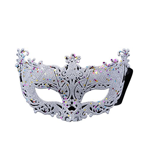 Vimans Fashion Hallowen Masks Unisex Adults White Facial Masquerade Ball Masks