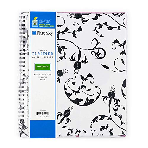 """Blue Sky 2019 Monthly Planner, Flexible Cover, Twin-Wire Binding, 8"""" x 10"""", Analeis [New Improved Version]"""