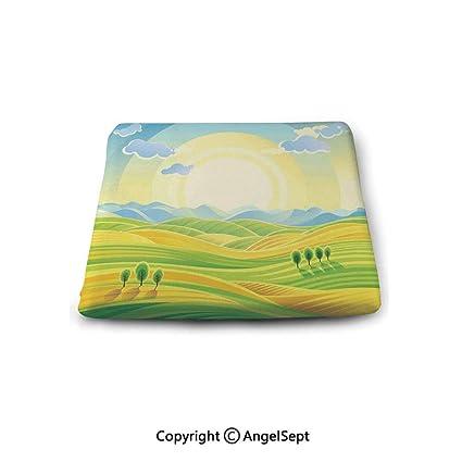 Amazon.com: Non-Slip Cushion Square Chair Pad,Farm House ...