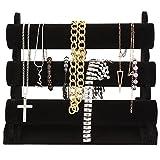 Black Velvet Bracelet Necklace Watch Bangle Jewelry Display Organizer Rack Storage Stand Holder