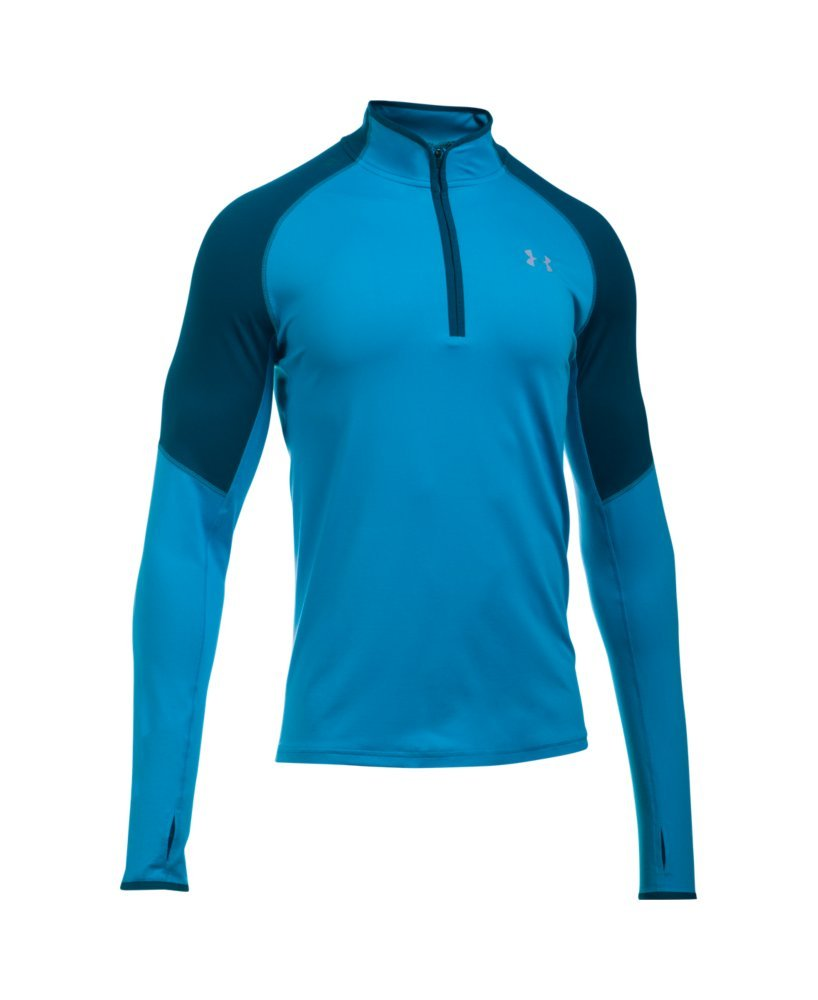 Under Armour Men's No Breaks Run 1/4 Zip, Brilliant Blue /Reflective, Medium by Under Armour (Image #4)
