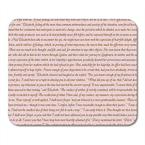 Urmirs Mouse Pads Jane Pride and Prejudice Austen Regency Romance Georgian Mouse Mat 9.5